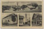 AK Mehrbild Heiligkreuz Ortsansicht Gasthof Geschäft b. Trostberg Oberbayern 1957 RAR