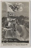 AK Garmisch-Partenkirchen Olympische Winterspiele Sprungschanze Fahnen 1936 RAR