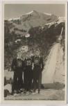 AK Foto Oberstdorf Ski-Flug-Woche Schanze Toni Brutscher Sepp Weiler Heini Klopfer 1953