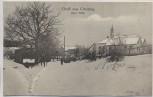 AK Gruß aus Greising Bayr. Wald Ortsansicht im Winter Stempel Mietraching Deggendorf 1922 RAR