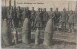 VERKAUFT !!!   AK Foto Französ. Blindgänger und Ausbläser Soldaten mit Pickelhaube 1.WK Feldpost 1916