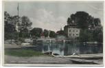 AK Lübben Spreewald Spreehafen mit Jugendherberge nachcoloriert 1935