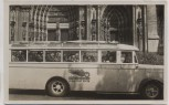 VERKAUFT !!!   AK Foto Köln Bus Auto-Verkehr Bensberg vor Dom Sonderstempel Waffentag Feldartillerie 1934