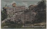 AK Königshain O.-L. Gruss von den Königshainer Bergen Hochstein Felsenpartie Kr. Görlitz 1920