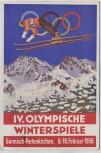AK Garmisch-Partenkirchen Olympische Winterspiele Österreich Olympia Fond Sonderausgabe 1936 RAR