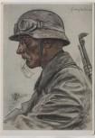Künstler-AK Unsere Panzerwaffe W. Willrich Ein Kradmelder 1941 RAR