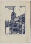 Künstler-AK Hansestadt Köln Rathaus Deutscher Haus-und Grundbesitzertag 1937 RAR