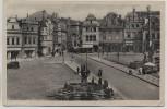 AK Deutsch-Brod Markt mit Brunnen Havlíčkův Brod Tschechien 1944
