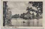AK Auma Thüringen Sophienbad Kinder im Boot 1940