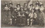 """AK Oberbayr. Alpensänger, Schrammel- und Tänzertruppe """"Widerhall"""" Bayern 1910"""