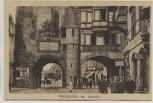 AK Freiburg im Breisgau Martinstor mit Restaurant und Studenten 1910