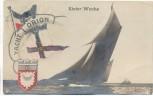 Foto-AK Kieler Woche Kiel Yacht Orion Patriotika 1913 RAR