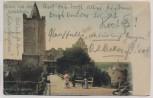 AK Gruss von der Rudelsburg Burgeingang mit Damen b. Saaleck Bad Kösen 1902
