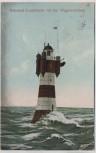 AK Rotesand-Leuchtturm vor der Wesermündung b. Bremerhaven 1910