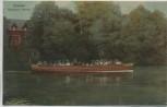 VERKAUFT !!!   AK Bremen Bürgerpark Meierei Boot viele Menschen 1910