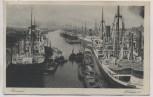 VERKAUFT !!!   AK Bremen Freihafen II viele Schiffe 1927