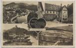 AK Mehrbild Ziegenrück mit Herz Rathaus Schwimmbad Schloß 1938