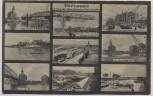 AK Mehrbild Dortmund Hafen des Dortmunder-Emskanals Bootshaus Lagerhaus ... 1920