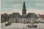 AK Mannheim Marktplatz mit Rathaus 1913