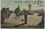 AK Gruss aus Sandersdorf Kirche Turm Ortsansicht b. Brehna Kr. Bitterfeld 1910