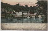 AK Leisnig Mulde mit Brücke 1907