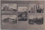 AK Mehrbild Oschatz Dresdner Strasse Sporerstrasse Neumarkt ... 1908