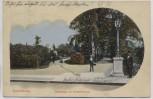 AK Quedlinburg Parkanlage mit Kriegerdenkmal Menschen 1910