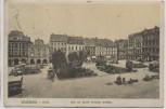 VERKAUFT !!!   AK Waldenburg in Schlesien Ring mit Kaiser Friedrich Denkmal Wałbrzych Polen 1913