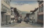 AK Ebingen Kapell-Strasse mit Menschen Feldpost 1914 RAR