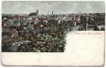 AK Gruss aus Hof an der Saale Gesamtansicht Bayern 1907