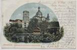 AK Mannheim Stadtpark mit Sternwarte u. Jesuitenkirche 1902
