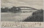 AK Nienburg an der Weser Neue Weserbrücke 1906