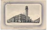 AK Prägekarte Hof an der Saale Bayern Rathaus mit Ludwig-u. Klosterstrasse 1911 RAR
