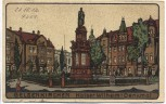 AK Künstlerkarte Steindruck Gelsenkirchen Kaiser Wilhelm-Denkmal 1912