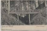 AK Gruss aus Kollund Schlucht mit Brücke b. Bov Sogn Nordschleswig Dänemark 1910