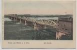 AK Gruss aus Dömitz an der Elbe Elb-Brücke 1900