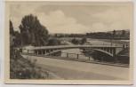 AK Foto Gera Liebschwitz Friedensbrücke 1954