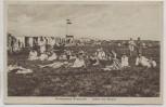 VERKAUFT !!!   AK Nordseebad Rüstersiel Leben am Strand viele Menschen Fahne Wilhelmshaven 1929
