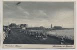 AK Nordseebad Büsum Südstrand mit Zeppelin 1935