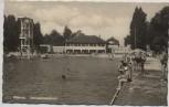 AK Foto Weimar Schwanenseebad viele Menschen 1962