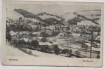 AK Foto Hannsdorf Hanušovice Ortsansicht im Winter Ost Sudetengau b. Šumperk Tschechien 1940