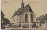 AK Kamenz in Sachsen St. Justkirche mit Menschen 1910