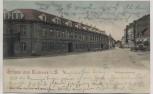 VERKAUFT !!!   AK Grüsse aus Kamenz in Sachsen Königsbrückerstrasse mit Gasthaus zum goldenen Berg 1902 RAR