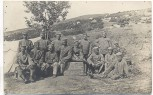 AK Foto Gruss aus dem Balkan 9. Sektion Soldatengruppe Zelt 1.WK 1915 1916