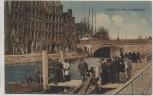 AK Lübeck Alte Travespeicher viele Menschen Feldpost 1915