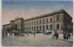 AK Magdeburg Bahnhof Autos und Menschen Feldpost 1916
