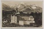 AK Foto Traunstein Kurhaus mit Blick auf Hochgern Feldpost 1942