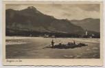 AK Foto Lenggries a. d. Isar Ortsansicht mit Flößer Feldpost 1943