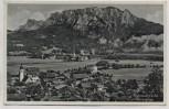 AK Foto Niederaudorf am Inn Ortsansicht mit Kaisergebirge 1940
