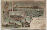 AK Litho Gruss aus Culmsee Chełmża Zuckerfabrik Ortsansicht Westpreußen Polen 1904 RAR